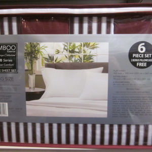 Bamboo Striped 1800 tc Eqyptian Cotton Sheet Set K